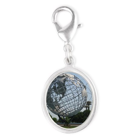 Unisphere Silver Oval Charm
