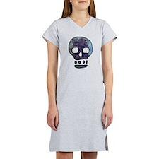 Textured Skull Women's Nightshirt