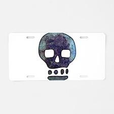 Textured Skull Aluminum License Plate
