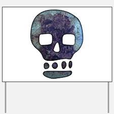 Textured Skull Yard Sign