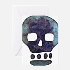Textured Skull Greeting Cards
