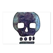 Textured Skull Postcards (Package of 8)