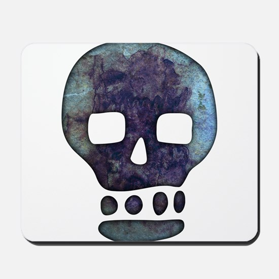 Textured Skull Mousepad