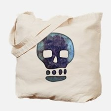 Textured Skull Tote Bag