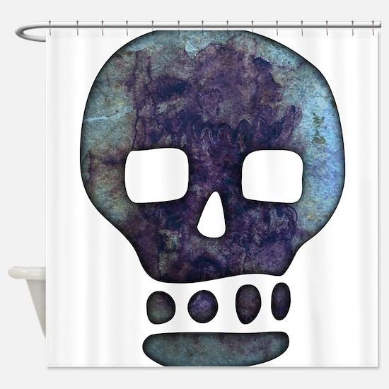 Textured Skull Shower Curtain