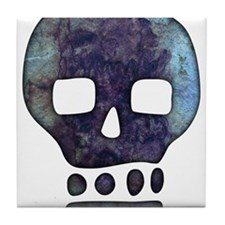 Textured Skull Tile Coaster
