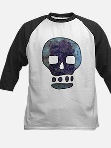 Textured Skull Baseball Jersey