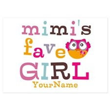 Mimis Favorite Girl - Personalized 5x7 Flat Cards