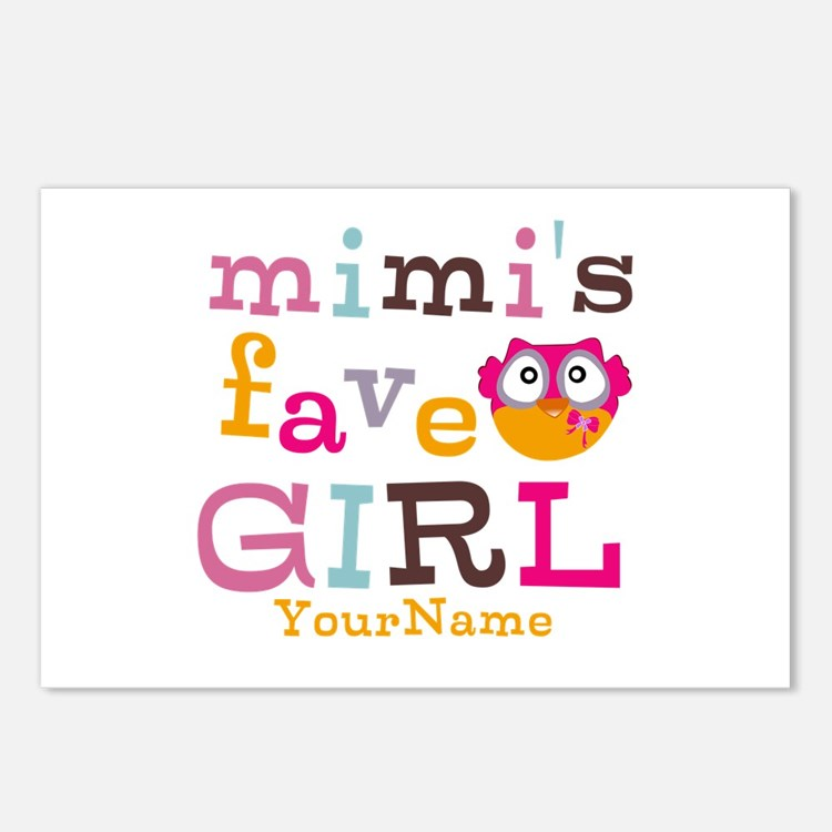 Mimis Favorite Girl - Personalized Postcards (Pack