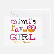 Mimis Favorite Girl - Personalized Greeting Card