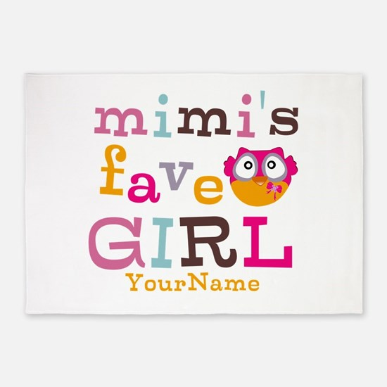 Mimis Favorite Girl - Personalized 5'x7'Area Rug
