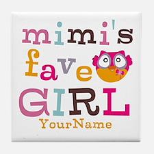 Mimis Favorite Girl - Personalized Tile Coaster