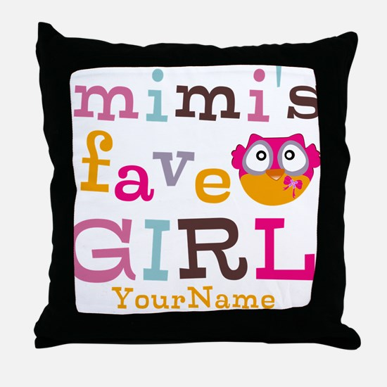 Mimis Favorite Girl - Personalized Throw Pillow