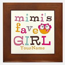 Mimis Favorite Girl - Personalized Framed Tile