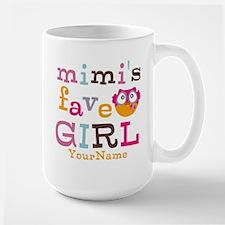 Mimis Favorite Girl - Personalized Large Mug