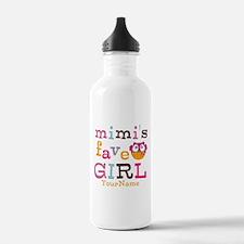Mimis Favorite Girl - Personalized Water Bottle