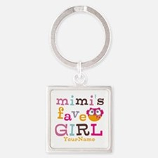 Mimis Favorite Girl - Personalized Square Keychain