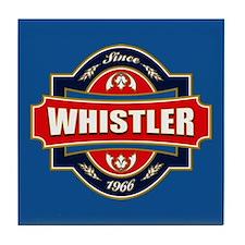 Whistler Old Label Tile Coaster