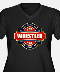Whistler Old Label Women's Plus Size V-Neck Dark T