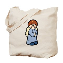 Country Style Boy Angel Tote Bag