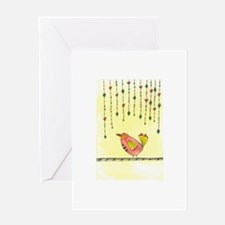 Bird with Dangles Greeting Cards