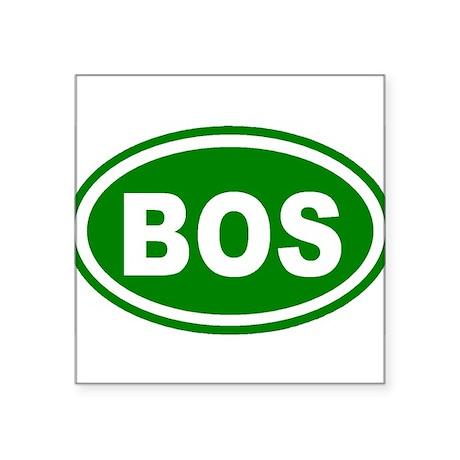 Boston, Massachusetts Oval Sticker