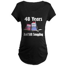 48th Anniversary Snuggling Owls T-Shirt