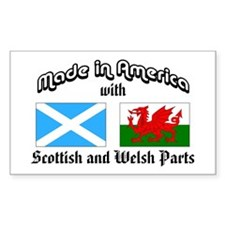 Scottish-Welsh Rectangle Decal
