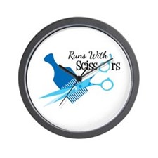 Runs with Scissors Wall Clock
