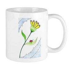 Flower with Lady Bug Mugs
