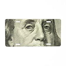 Benny Closeup Aluminum License Plate