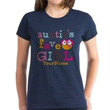 Personalized Aunties Favorite Girl Tee
