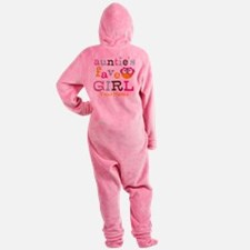 Personalized Aunties Favorite Girl Footed Pajamas
