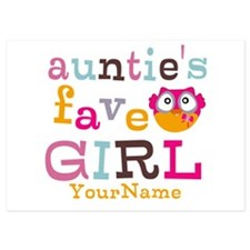 Personalized Aunties Favorite Girl Invitations