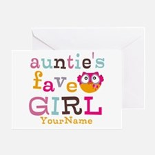 Personalized Aunties Favorite Girl Greeting Card