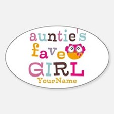 Personalized Aunties Favorite Girl Sticker (Oval)