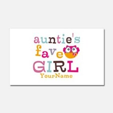 Personalized Aunties Favorite Girl Car Magnet 20 x
