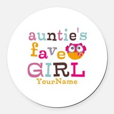 Personalized Aunties Favorite Girl Round Car Magne