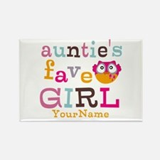 Personalized Aunties Favorite Girl Rectangle Magne