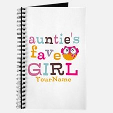 Personalized Aunties Favorite Girl Journal