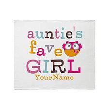 Personalized Aunties Favorite Girl Throw Blanket