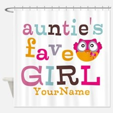 Personalized Aunties Favorite Girl Shower Curtain