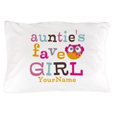Personalized Aunties Favorite Girl Pillow Case