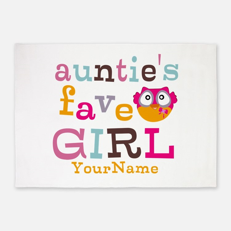Personalized Aunties Favorite Girl 5'x7'Area Rug