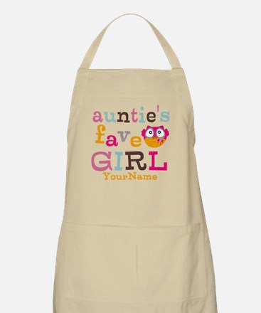 Personalized Aunties Favorite Girl Apron