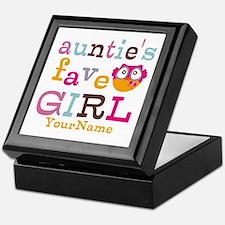 Personalized Aunties Favorite Girl Keepsake Box