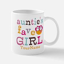 Personalized Aunties Favorite Girl Mug