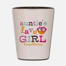 Personalized Aunties Favorite Girl Shot Glass