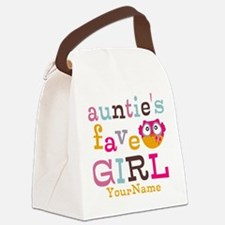 Personalized Aunties Favorite Girl Canvas Lunch Ba
