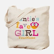 Personalized Aunties Favorite Girl Tote Bag